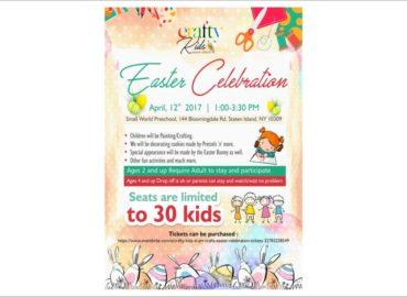 Crafty Kids Easter Celebration Flyers