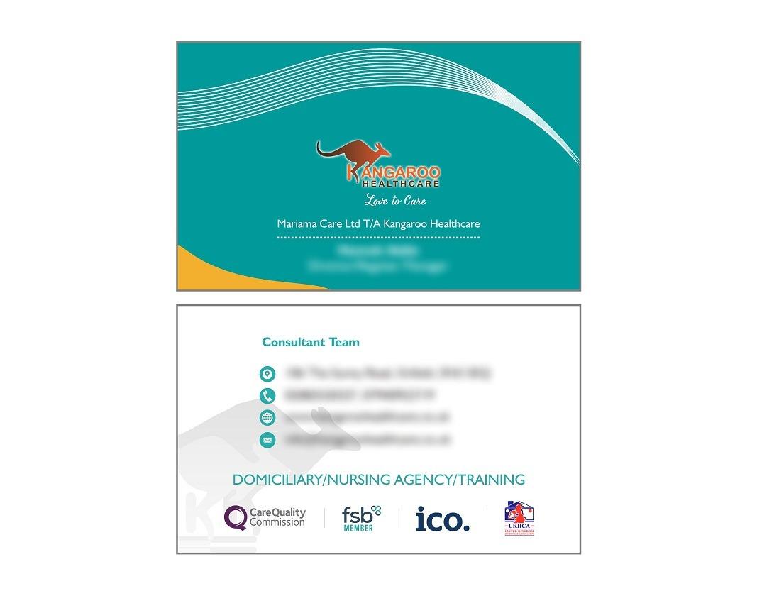 Kangaroo Healtcare Business Card