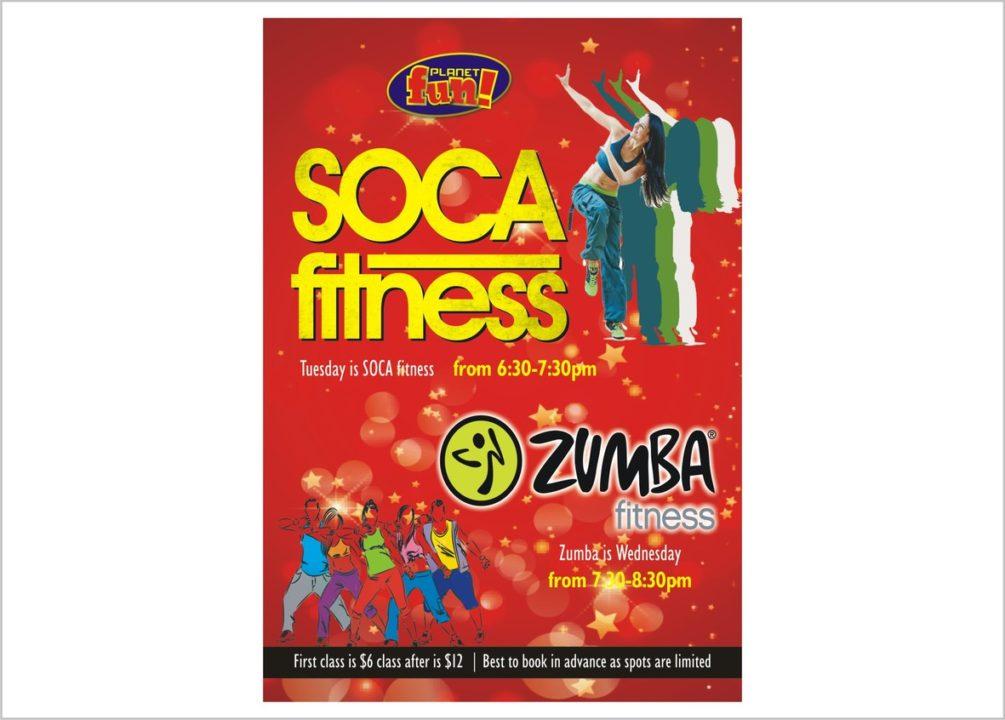 Soca Fitness Flyers