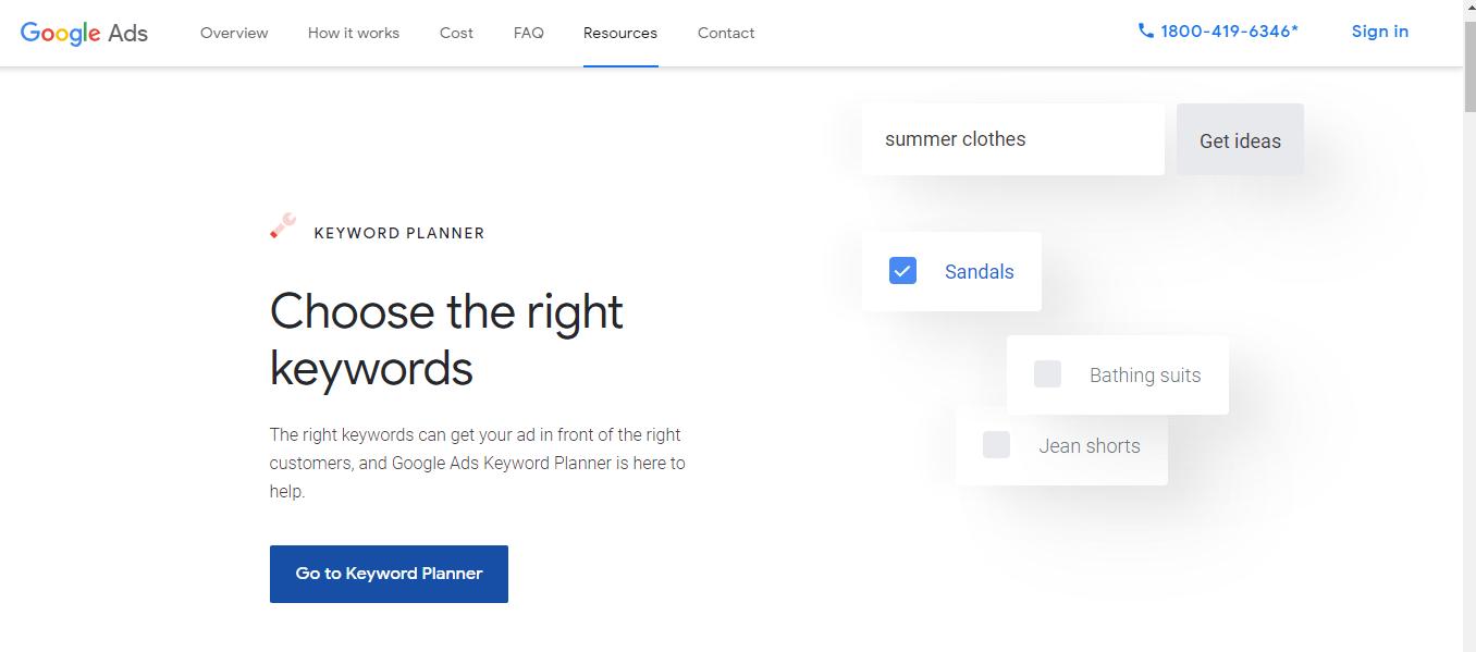 google-keywords-planner