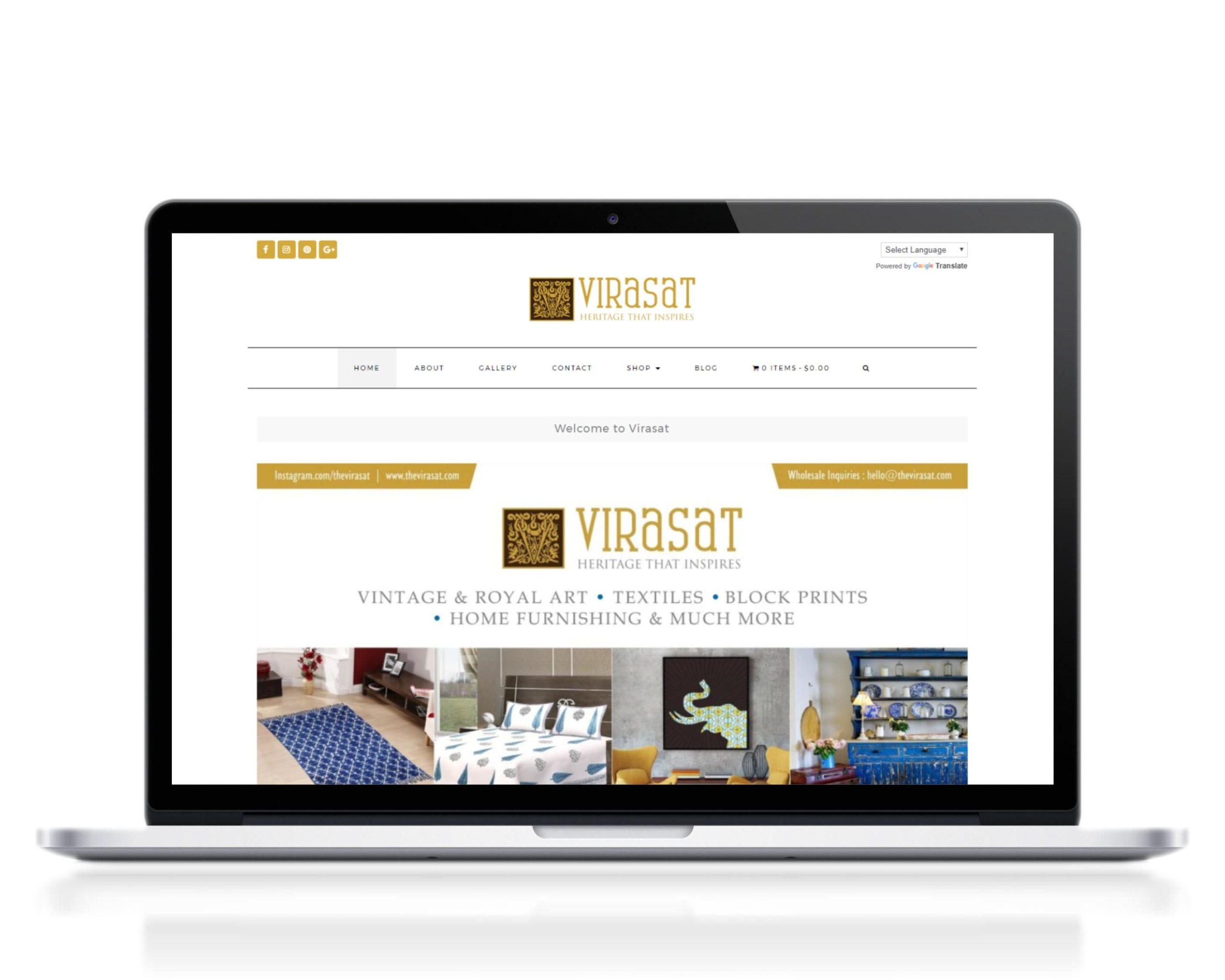Virasat-website