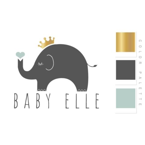 Baby ELLE Logo Design