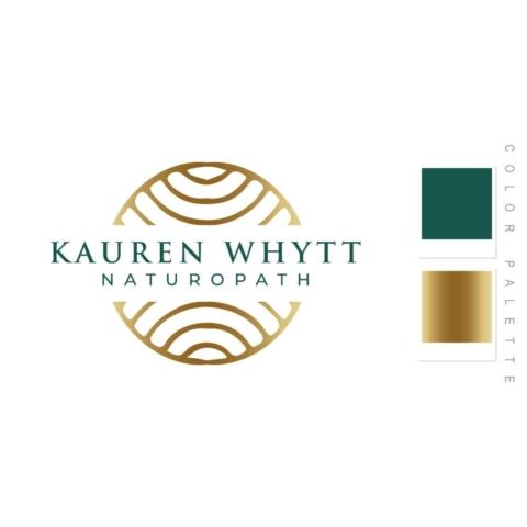 Kauren Whytt Naturopath Logo Design