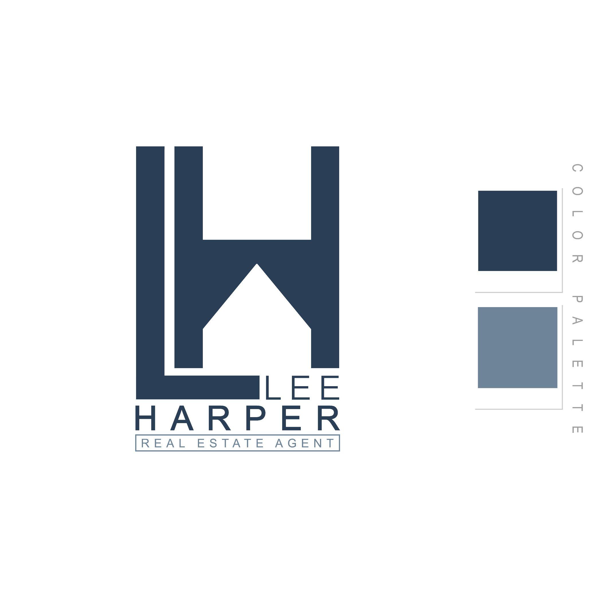 Lee Harper Realestate Agent Logo Design