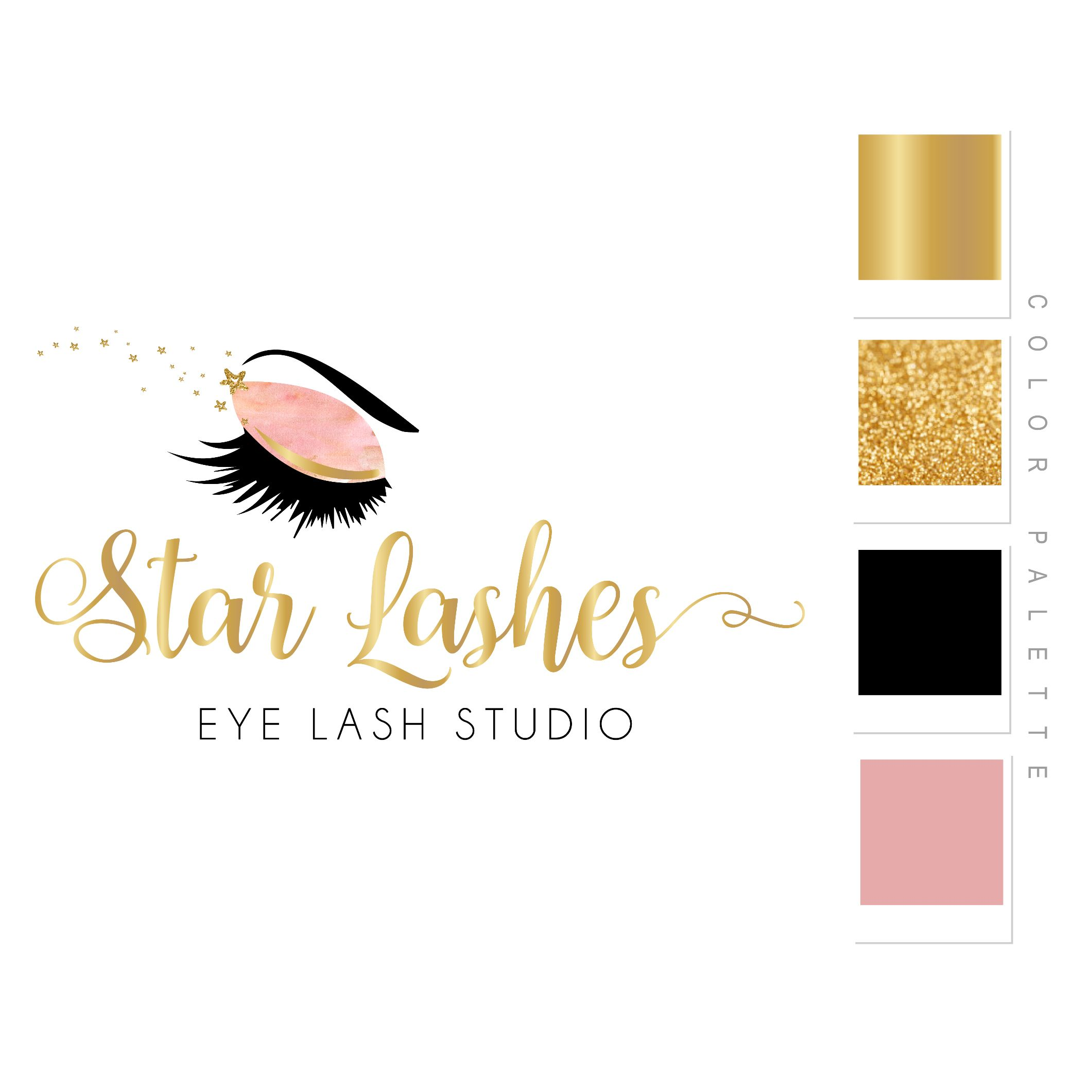 Star Lashes Eye Lash Studio Logo Design